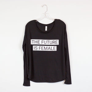 The Future Is Female Flowy Long-Sleeved Tee
