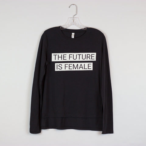 The Future Is Female Long-Sleeved Side-Slit Tee