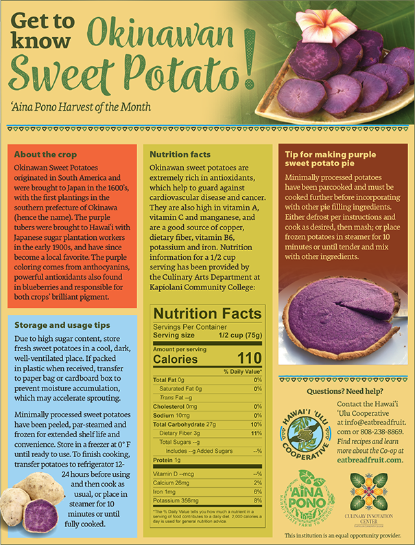 Get to Know Okinawan Sweet Potato: 'Aina Pono Harvest of the Month