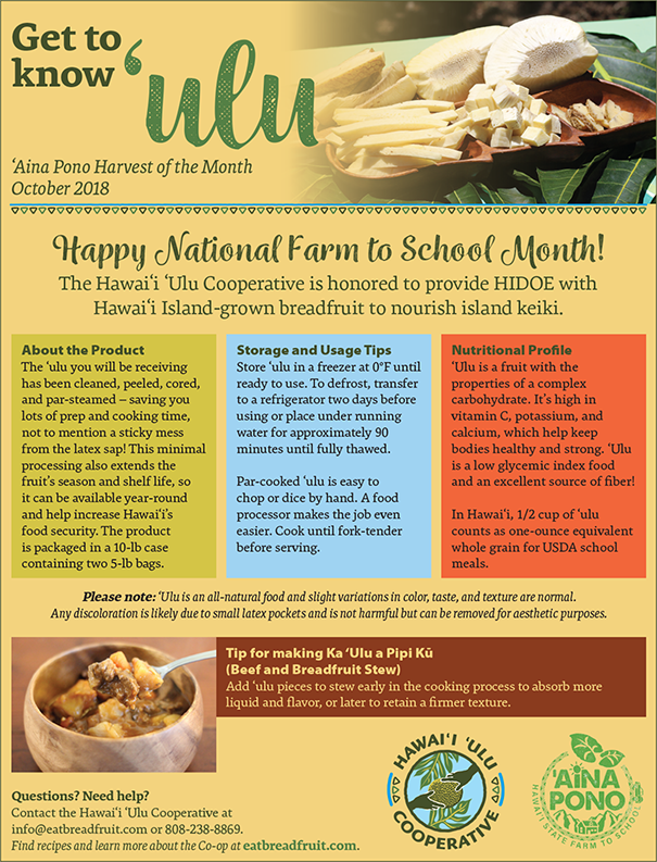 Get to Know 'Ulu: 'Aina Pono Harvest of the Month