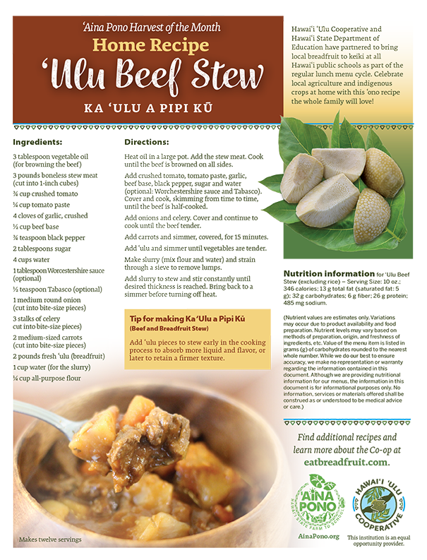 Recipe: Ulu Beef Stew