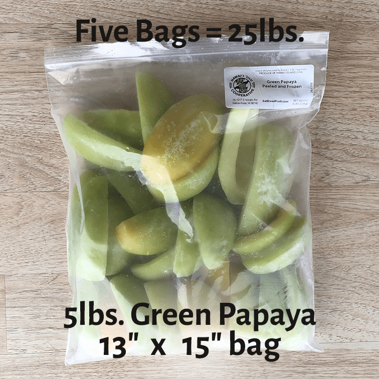 Papaya - Green (25 lbs.)