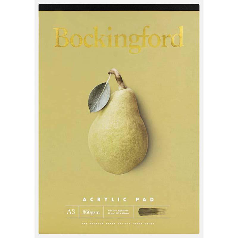 Bockingford Pad Acrylic A3 360gsm 12leaf