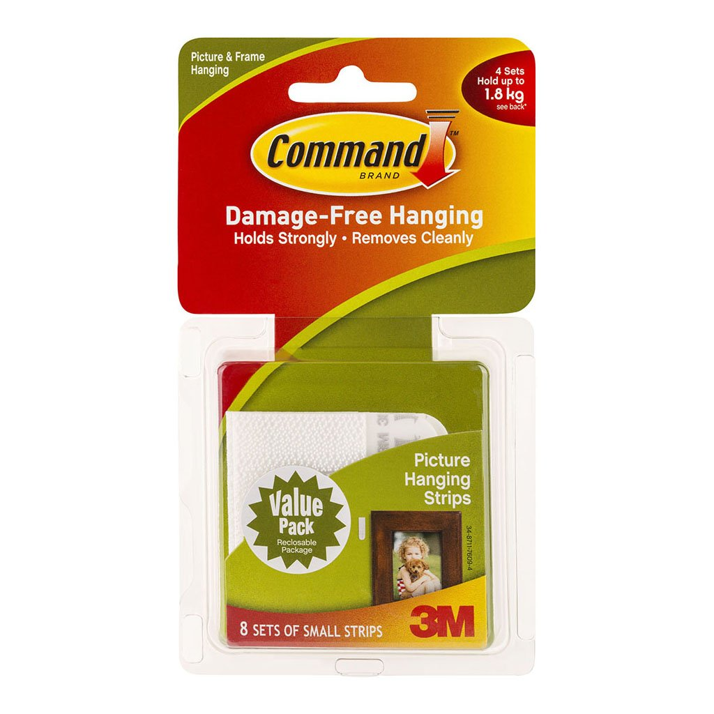 Command Strips Picture Hanging 17205-VP Small White Pk/16 Pairs