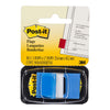 Post-it Flags 680-2 Singles Blue 25x43mm Pkt/50