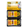Post-it Flags 680-SH2 Twin Pack Sign Here 25x43mm 50/Dispenser, 2 Dispensers/Pk
