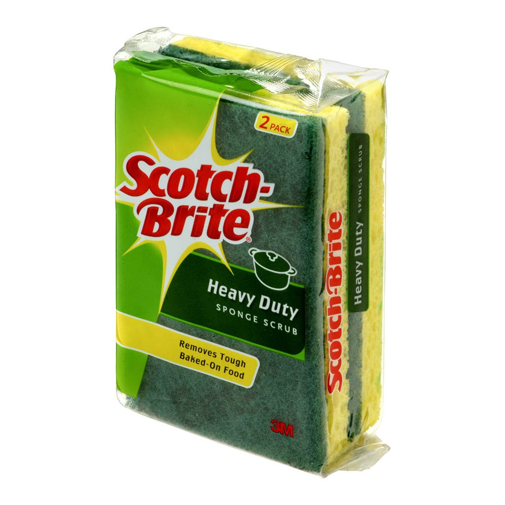Scotch-Brite Heavy Duty Scrub Sponge Pkt/2