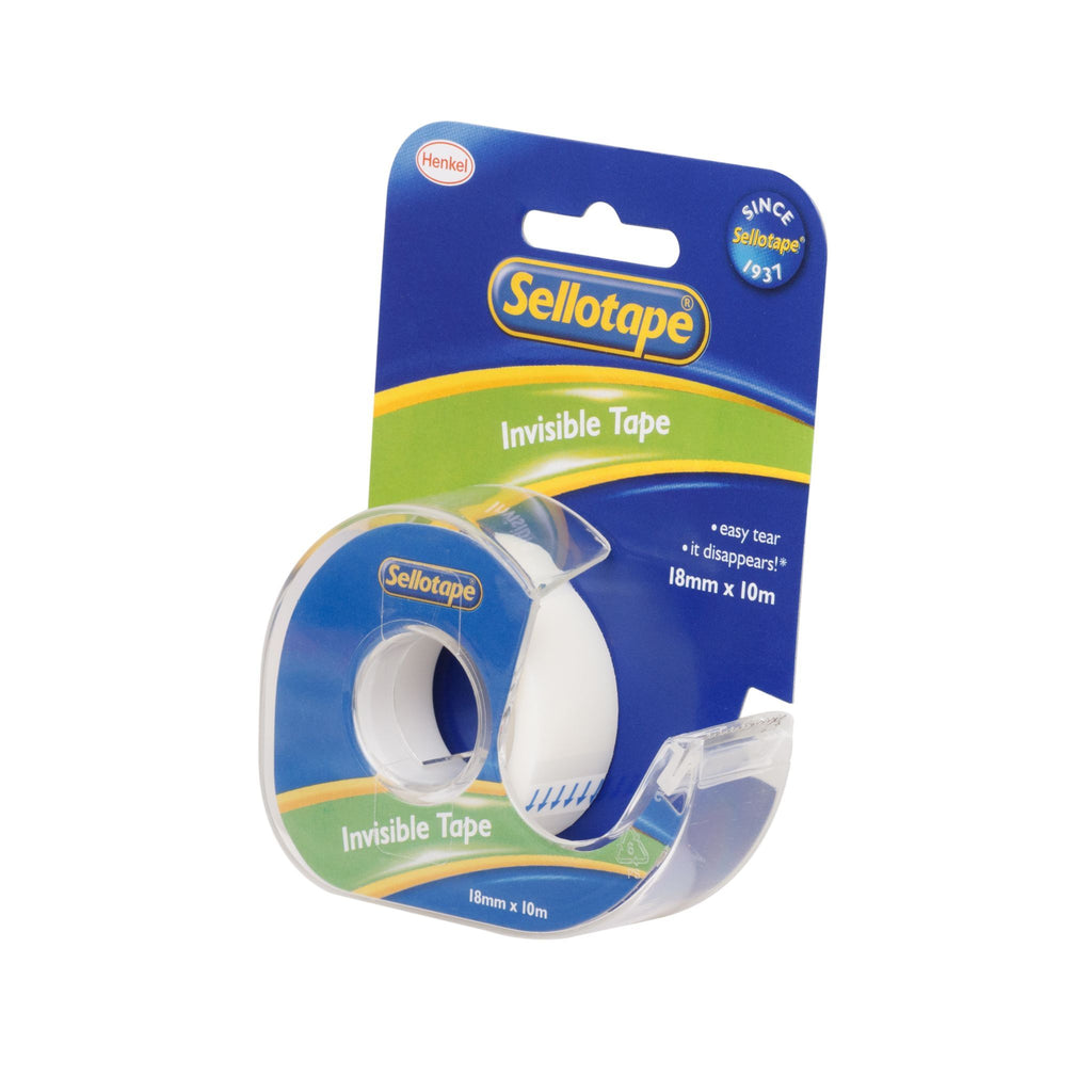 Sellotape 3265 Invisible Tape On Dispenser 18mmx10m