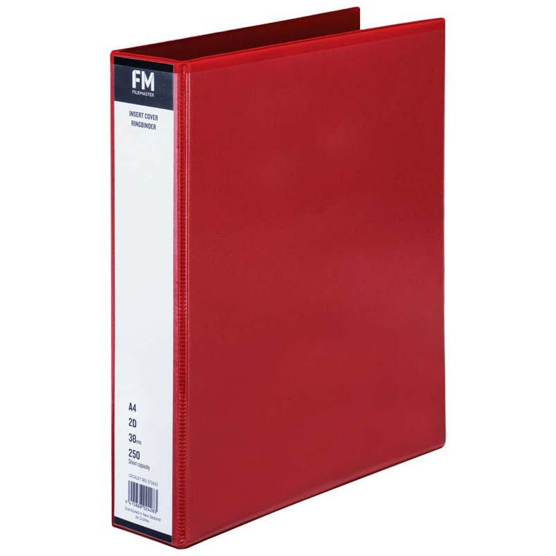 FM Binder Overlay A4 2/38 Red Insert Cover