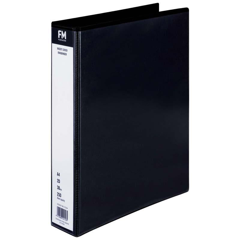 FM Binder Overlay A4 2/38 Black Insert Cover