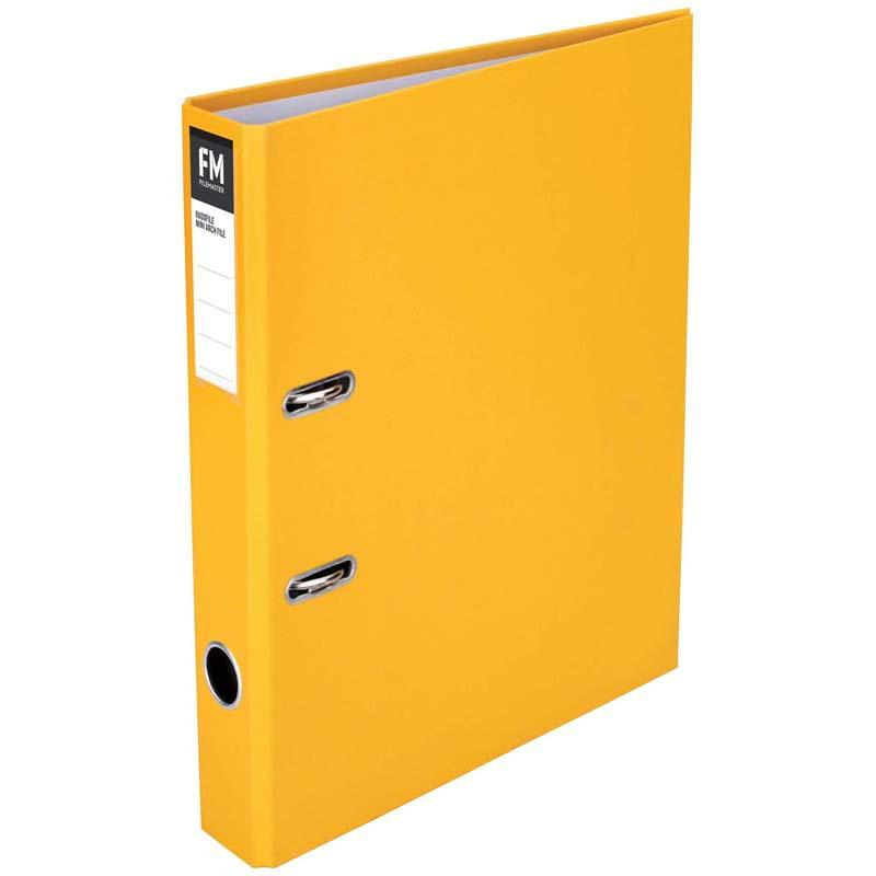 FM Binder Radofile Mini Yellow Foolscap Lever Arch