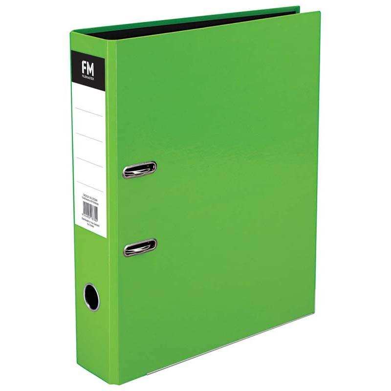 FM Binder Vivid Lime Green Foolscap Lever Arch