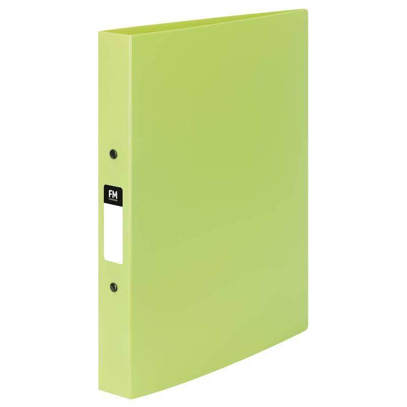FM Ringbinder Vivid Lime Green A4 2/25 O Ring Polyprop