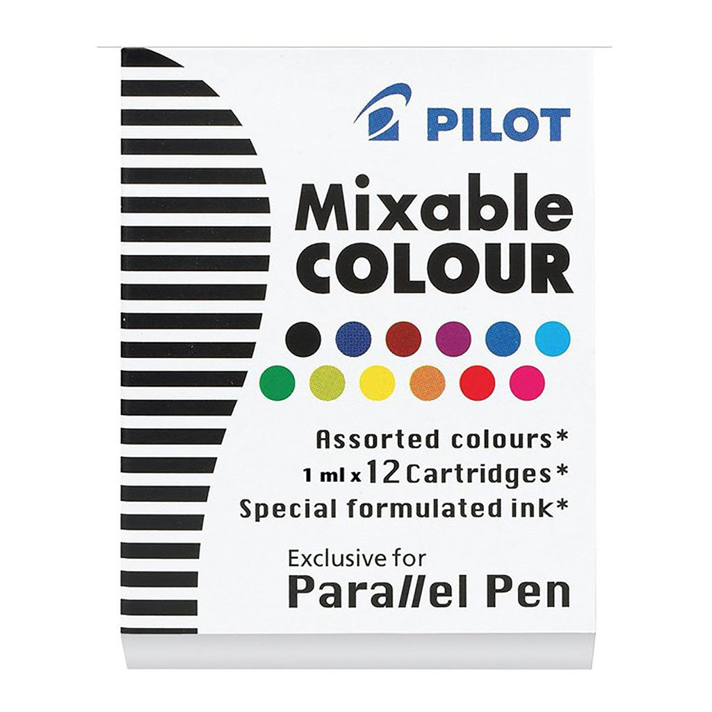 Pilot Parallel Pen Asstd. Colour Cartridge 12Pk (IC-P3-AST)