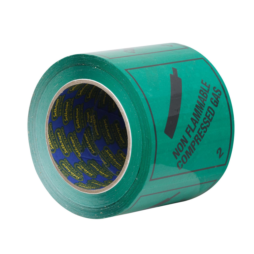 Sellotape RIP096R Non-Flam Compressed Gas 2 Label 96mmx100m