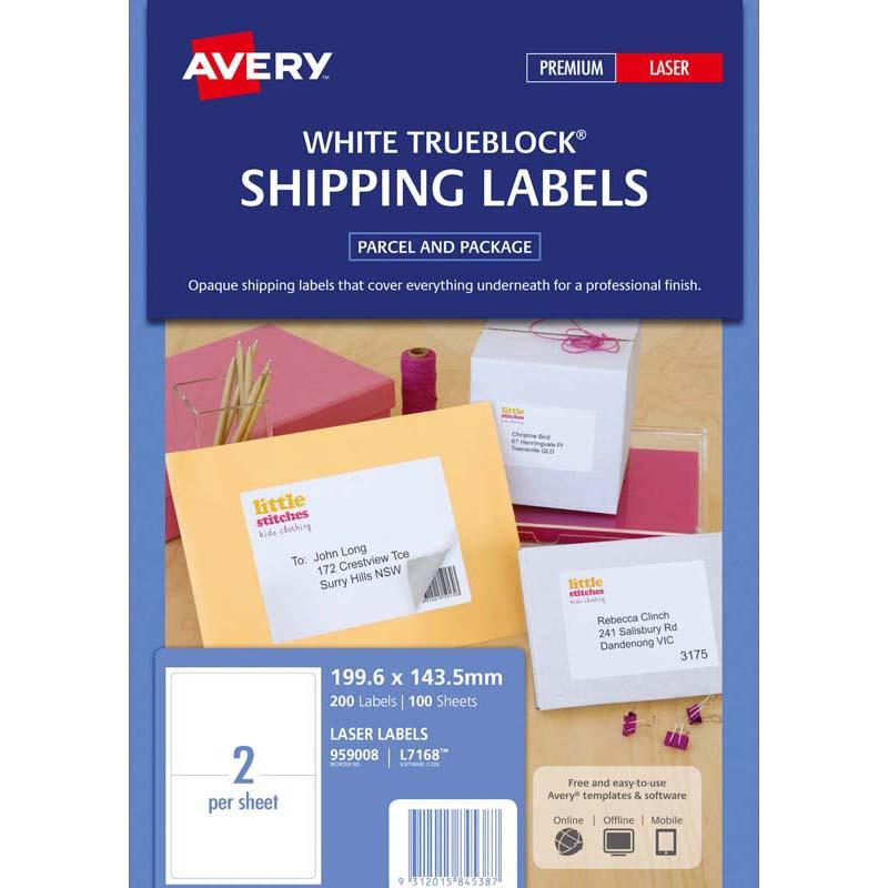 Avery Label L7168-100 100 Sheets Laser
