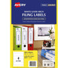 Avery Label L7171 Lever Arch 25 Sheets