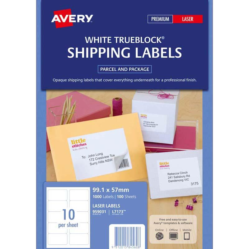 Avery Label L7173-100 100 Sheets Laser