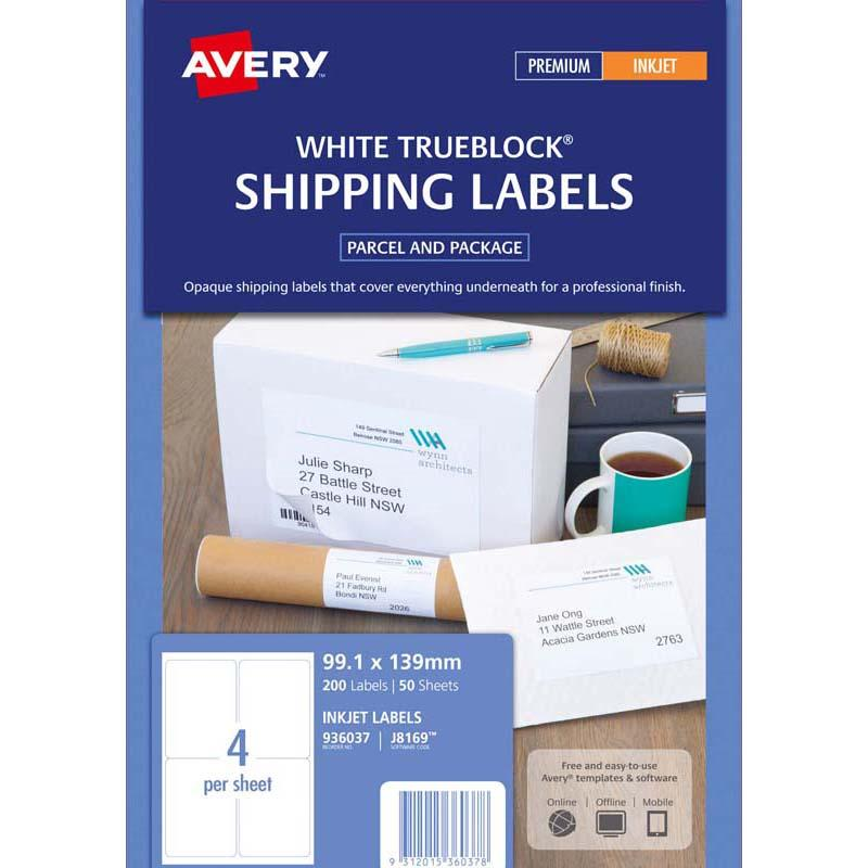 Avery Label J8169-50 Inkjet 50 Sheets