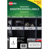 Avery Weather Resistant Label L4774 White 4 Up 20 Sheets Laser 99.1x139mm Removable