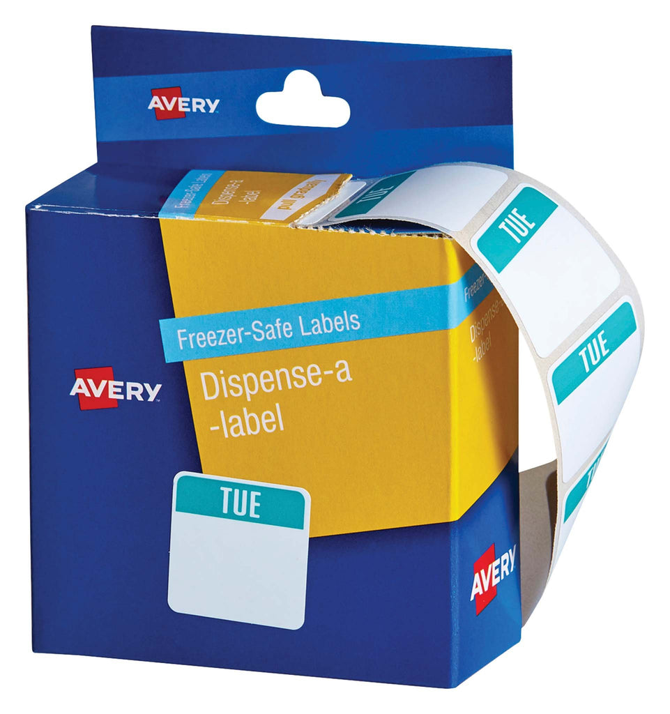 Avery Label Dispenser Tuesday Freezer Safe 24x24 100 Pk