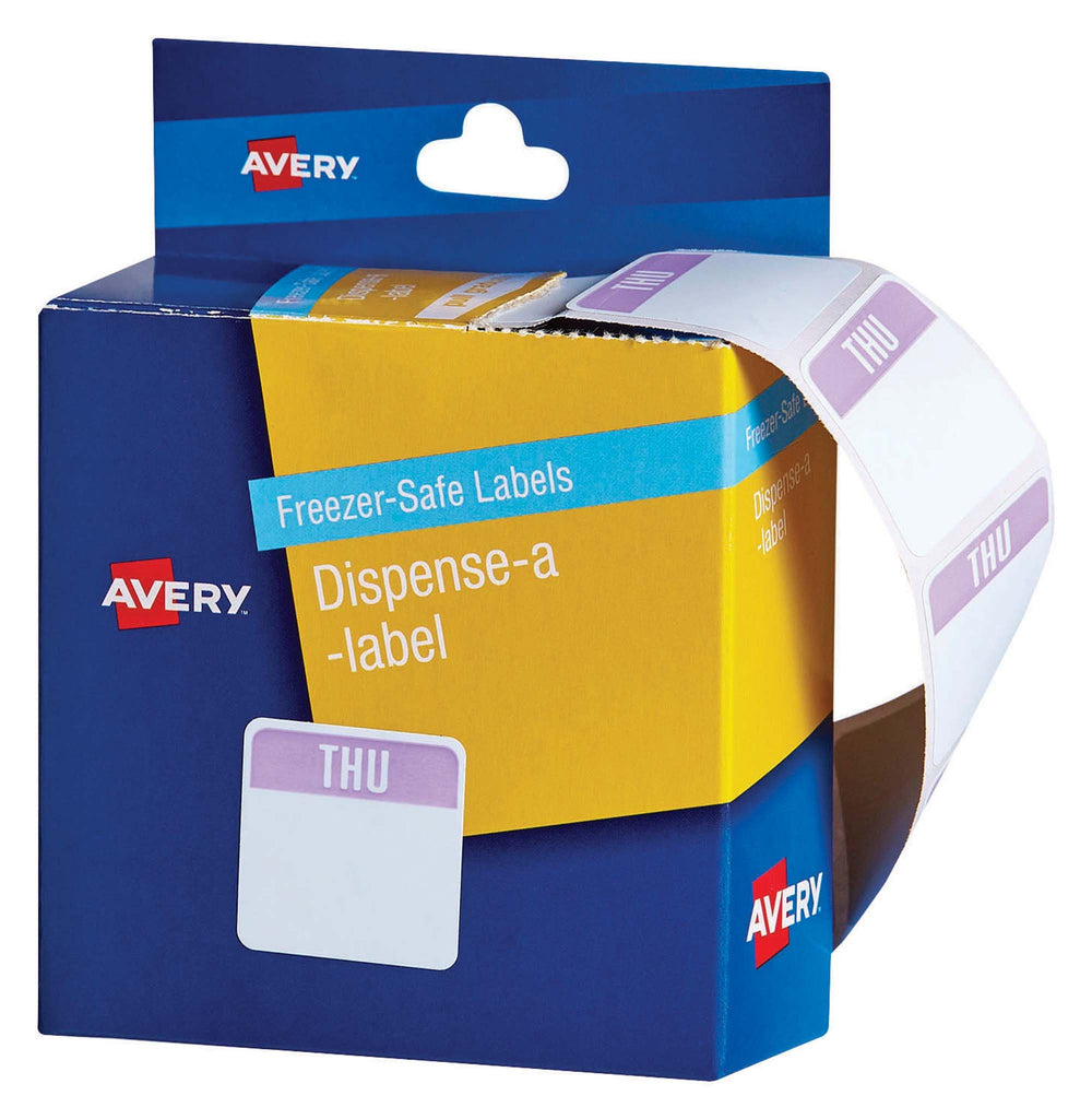 Avery Label Dispenser Thursday Freezer Safe 24x24 100 Pk