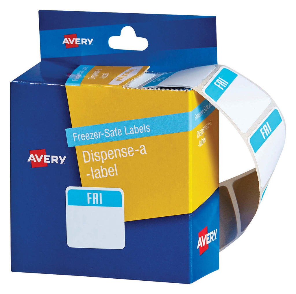 Avery Label Dispenser Friday Freezer Safe 24x24 100 Pk