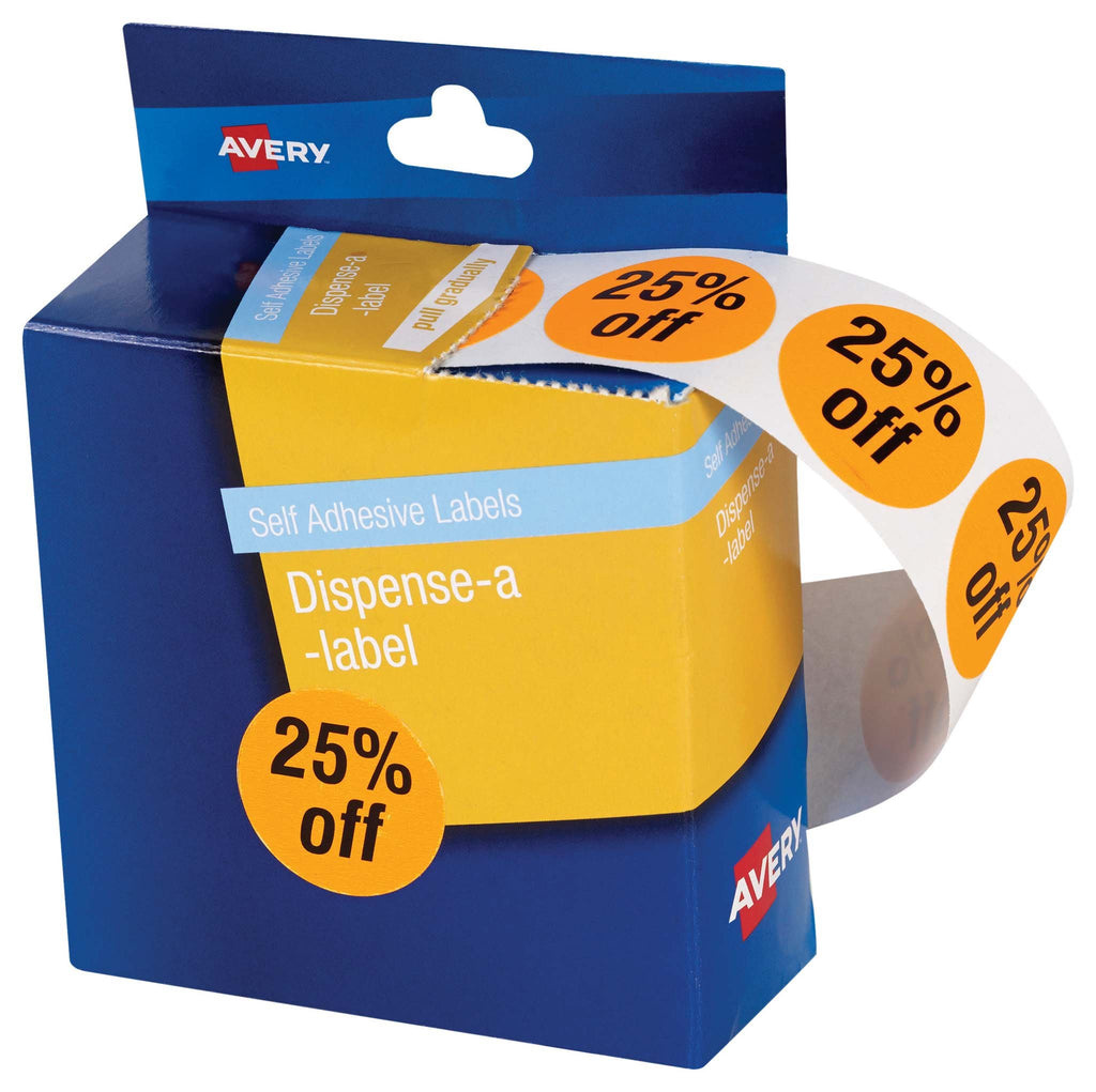 Avery Label DMC24FO 25% Off Dispenser 500 Pk