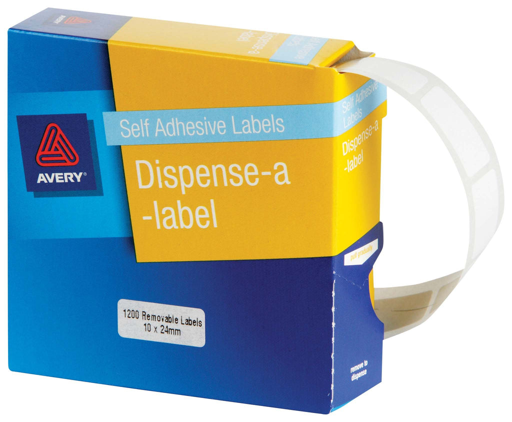 Avery Label Dispenser DMR1024w 10x24mm White 1200 Pack