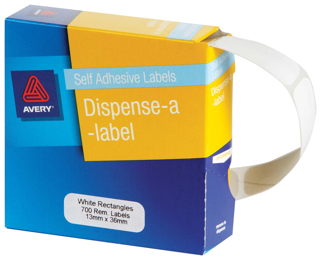Avery Label Dispenser DMR1336W 13x36mm White 700 Pack