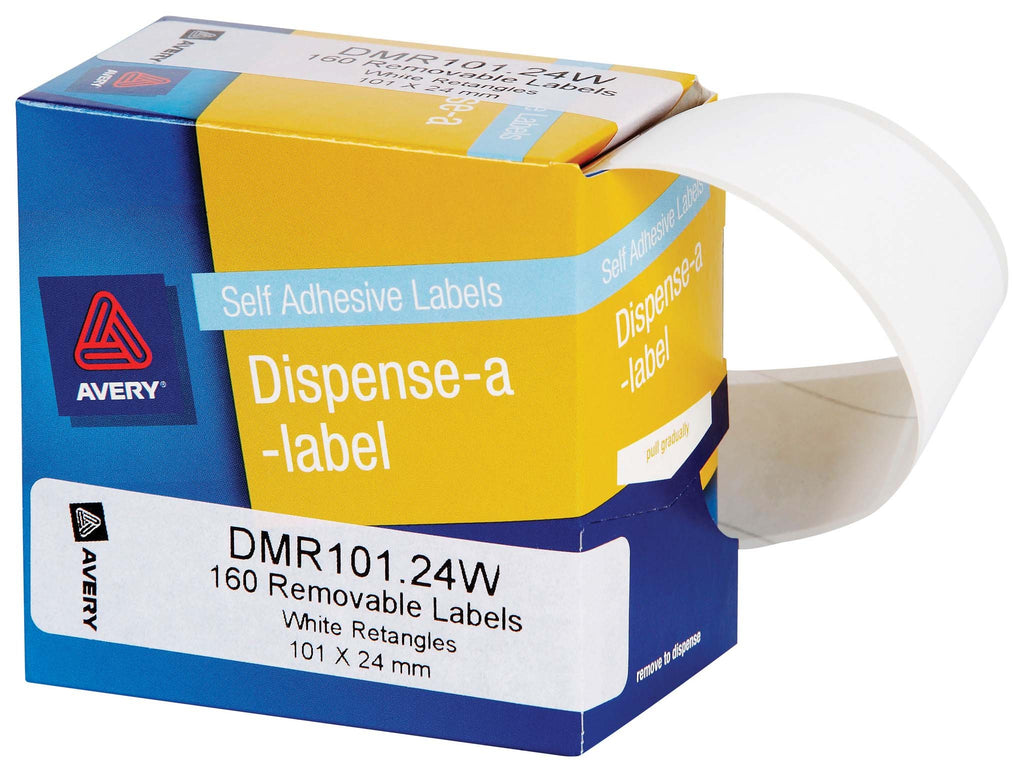 Avery Label Dispenser DMR101.24W White Rectangle