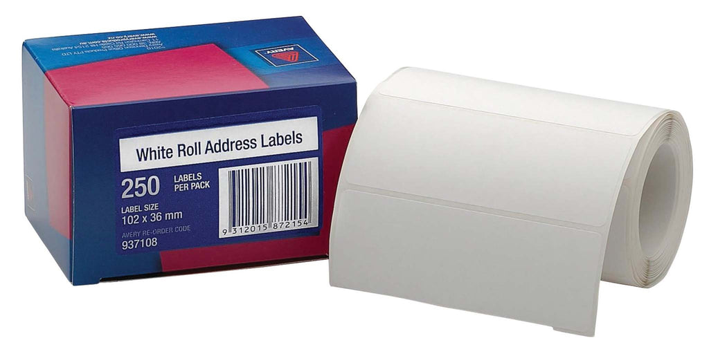 Avery Label Dispenser DMR102.36RA Address 102x36mm 250 Pack
