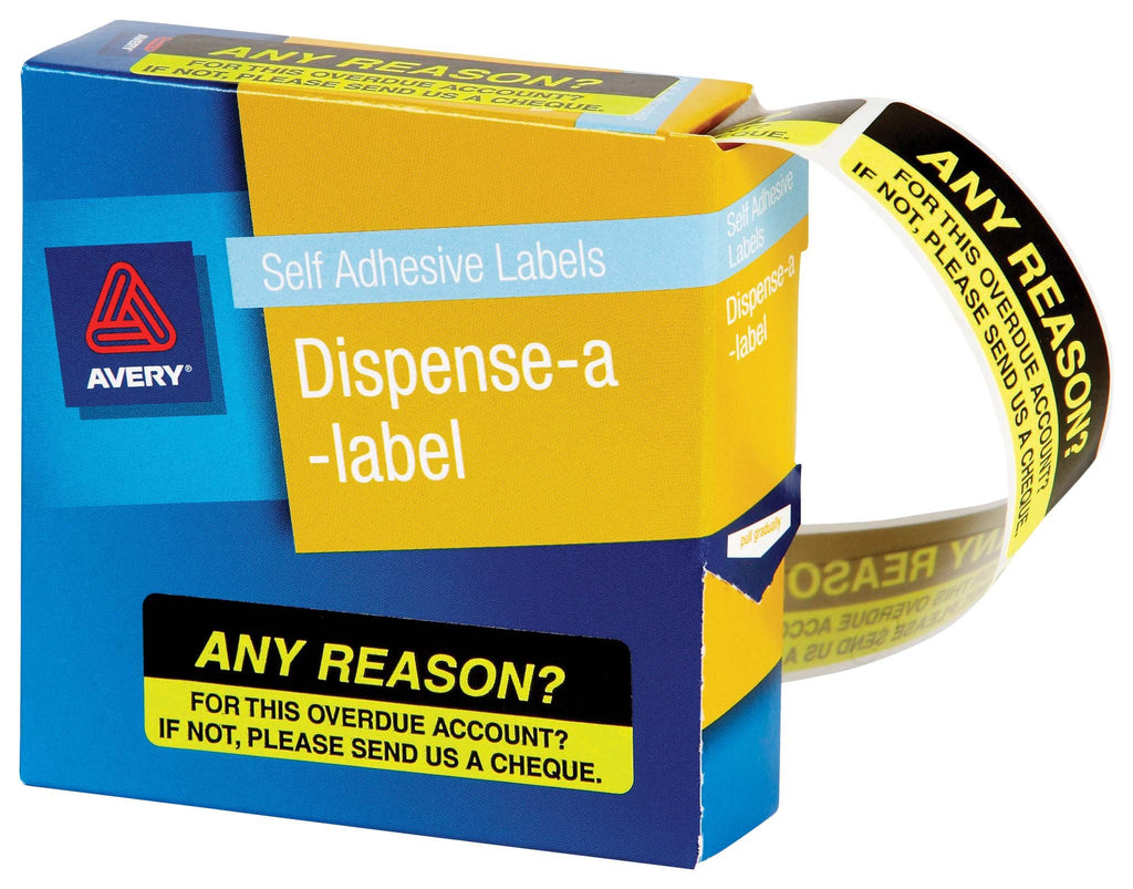 Avery Label Dispenser DMR1964R5 Any Reason 19x64mm 125 Pack