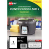 Avery Ultra Resistant ID Label L7916 White 2 Up 10 Sheets Laser 210x148mm