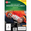 Avery Heavy Duty ID Label J4774 White Up 10 Sheets Inkjet 99.1x139mm