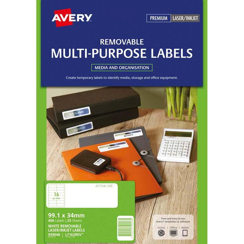 Avery Label L7162 Rev-25 99.1x33.9mm 25 Sheets