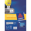 Avery Heavy Duty ID Label L6008 Silver 189 Up 20 Sheets Silver 25.4x10mm