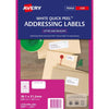 Avery Label L7651-100 White 38.1x21.2mm 100 Sheets