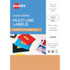 Avery Labels L7261 Copper 63.5x24mm A5 16 Up Pack 10