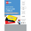 Avery Labels L7264 Metal Grey 32x94 A5 8 Up Pack 10