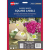 Avery Square Glossy Labels 10 Sheets 20 Up White L7124