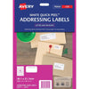 Avery Addressing Labels L7651 White 65 Up 40 Sheets Laser 38.1x21.2mm Quick Peel Pop Up