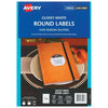 Avery Label L7100 Round White Glossy 60mm 12up 10 Sheets