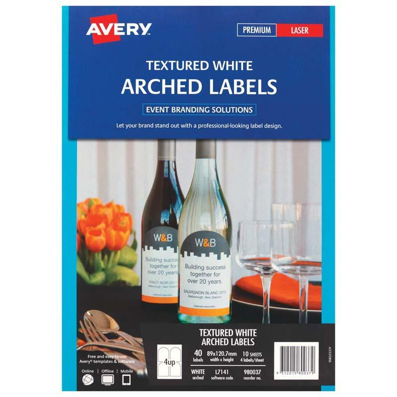 Avery Label L7140 White Arch 57x77mm 9up 10 Sheets Laser