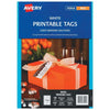 Avery Tags C32304 White Double Sided 89x51mm With String 10up 10 Sheets Inkjet