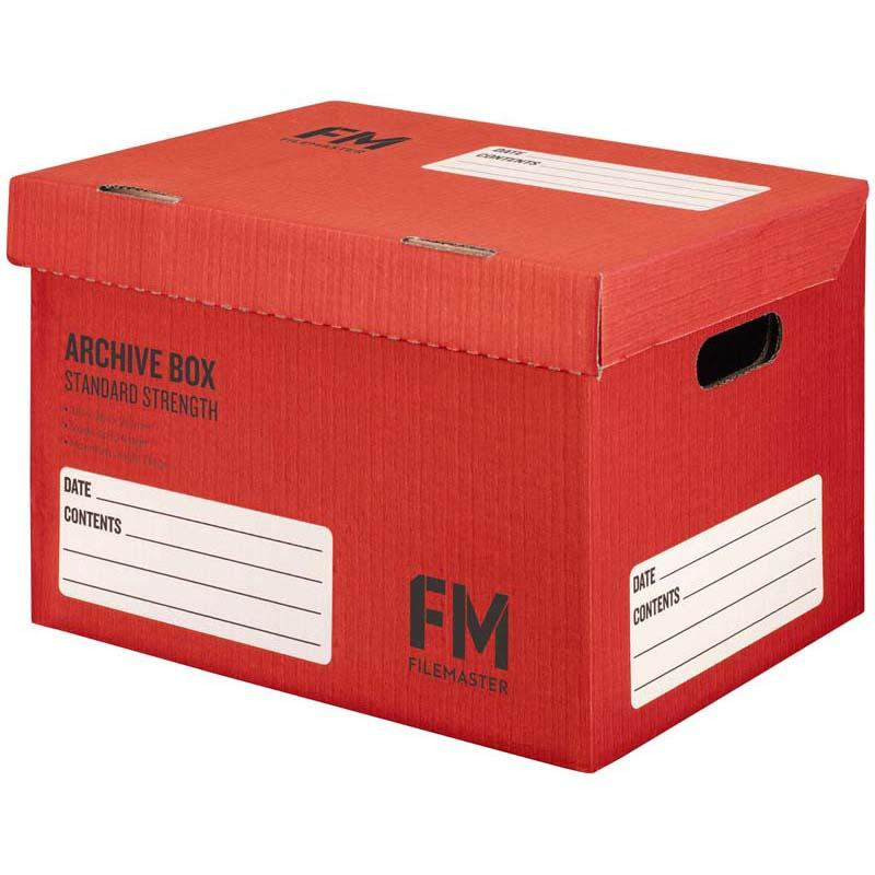 FM Box Archive Red Standard Strength 384x284x262mm Inside Measure