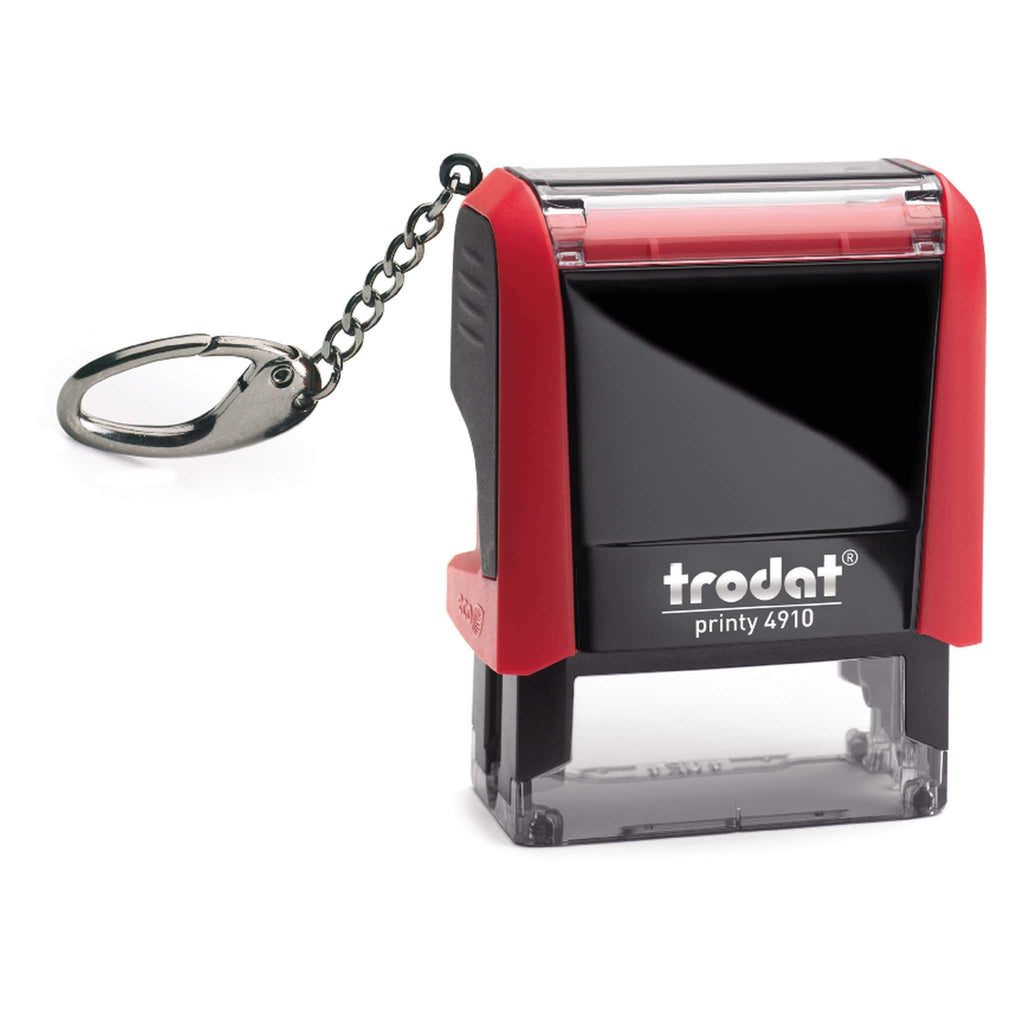 Trodat Printy 4910 Red - Including Key Ring