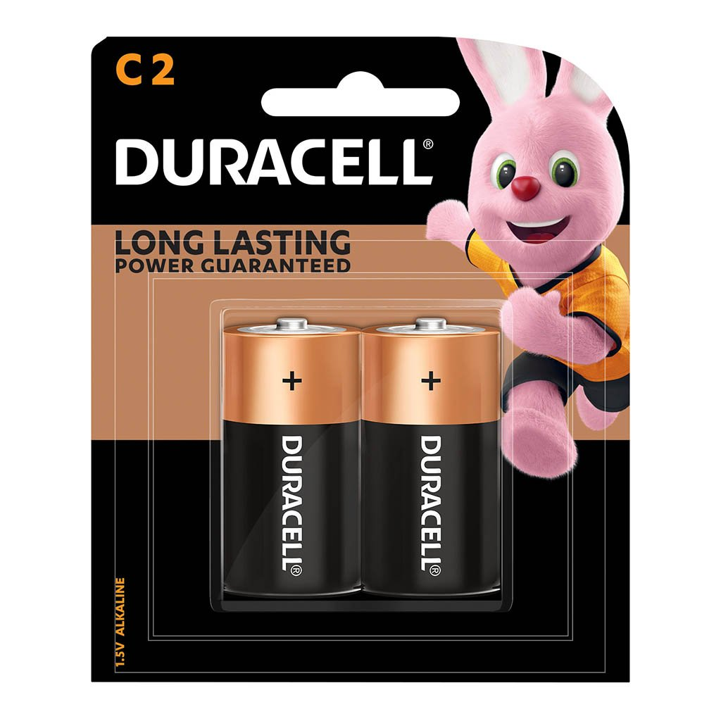 Duracell Coppertop Alkaline C Battery Pack of 2