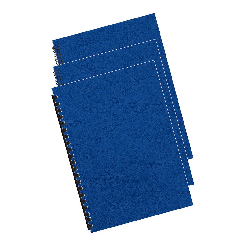 Fellowes Binding Covers A4 250gsm Royal Blue Pack 100