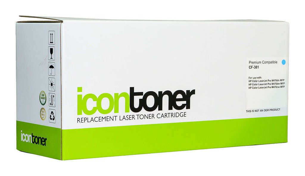 Icon Compatible HP CF381A Cyan Toner Cartridge (312A)
